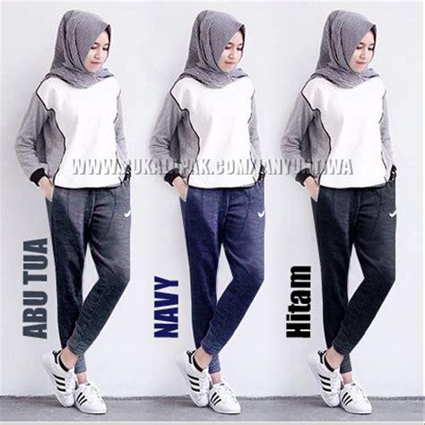 jual celana olahraga muslimah hijab training senam