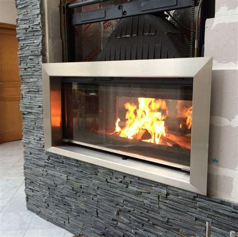 habillage cheminee insert moderne entourage cheminee inox habillage insert lacier fr