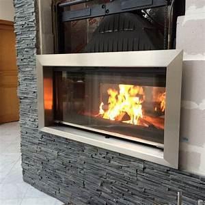 Cadre De Cheminée : entourage cheminee inox habillage insert ~ Melissatoandfro.com Idées de Décoration