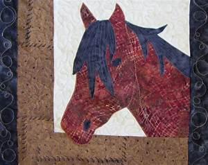 Quilting Around Applique Roberta's Custom Quilting: Horse