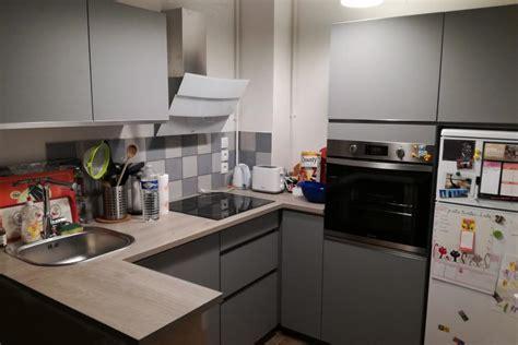 so cooc cuisine réalisations cuisine ouverte sur séjour modèle gris