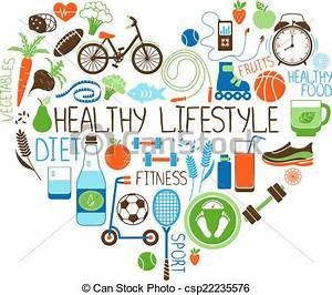 Vectors Illustration of Healthy Lifestyle Diet and Fitness ...
