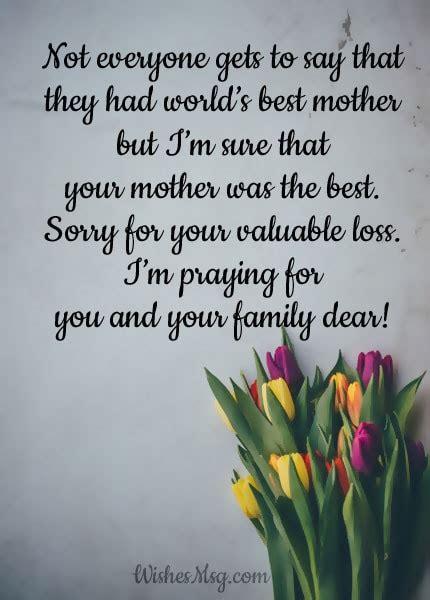 Condolence Message Sympathy Loss of Mother