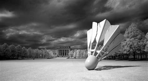 photo shuttlecock sculpture outdoors  image