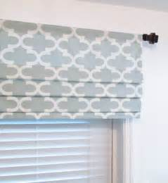 faux hobbled shades on decorative rod
