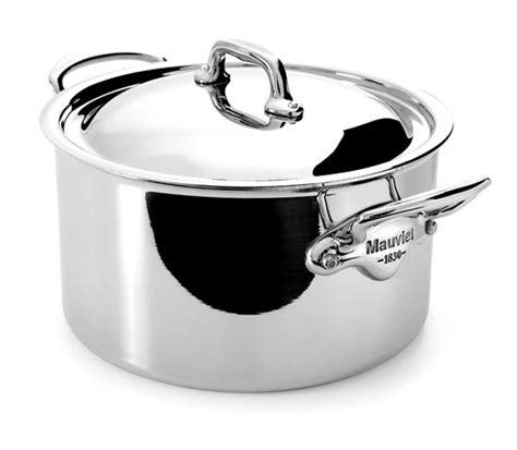 mauviel mcook stainless steel stock pot  quart cutlery