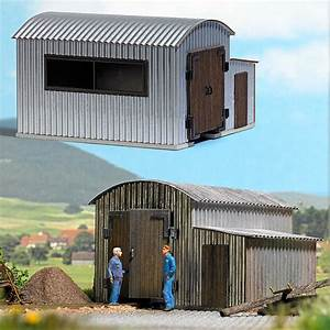 busch 12382 corrugated metal locomotive shed With corrugated steel shed kits