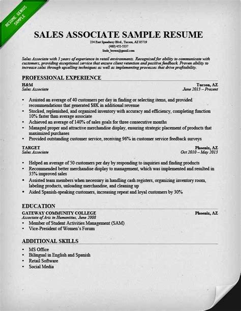 how to make cv sle for sales resume template