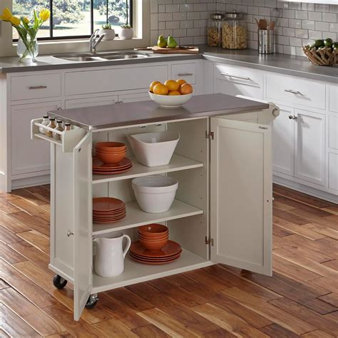 Home Styles Liberty White Kitchen Cart 4512 95   The Home