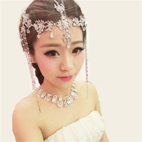 indian style hair accessories 2015 new free shippingbride rhinestone hair accessory