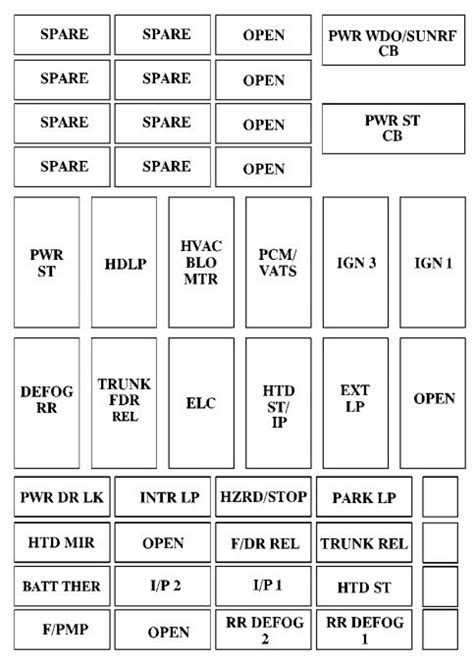 1998 Buick Riviera Fuse Box Diagram by Buick Riviera 1996 Fuse Box Diagram Auto Genius