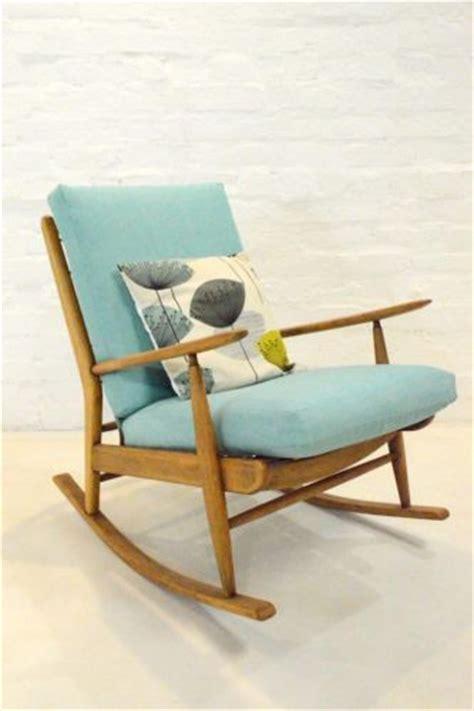 mid century modern scandart teak rocking chair retro