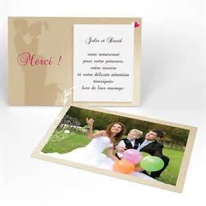 remerciement mariage carte remerciement mariage mesfairepartcom textes de design bild