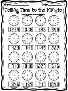 grade telling time worksheets math pinterest