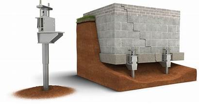 Piers Push Foundation System Pier Bedrock Installation