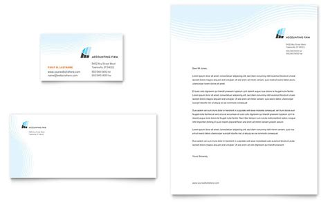 Accounting Firm Business Card & Letterhead Template Design