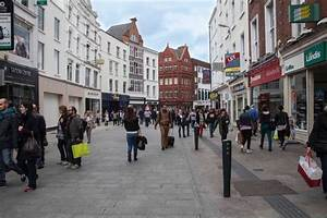Dublin's main shopping street is one block from the ...