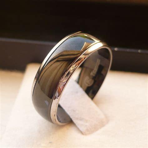 8mm men s titanium comfort fit wedding engagement promise