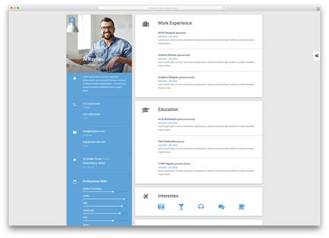 free resume website template sarahepps