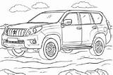 Toyota Land Cruiser Coloring Prado Pages Road Engine Torque Plenty Around There Cars sketch template