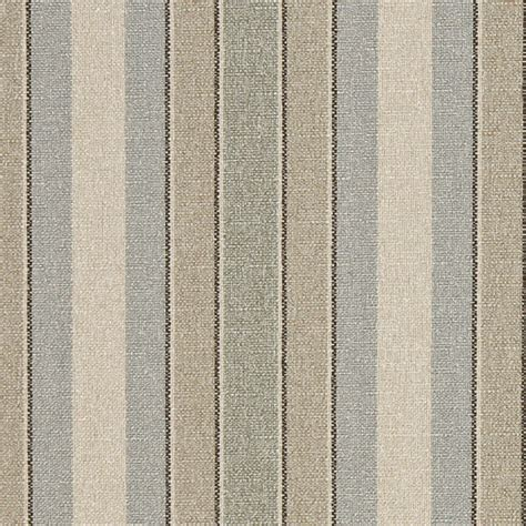 Striped Drapery Fabric by Blue Beige Green Striped Washed Linen Look Woven