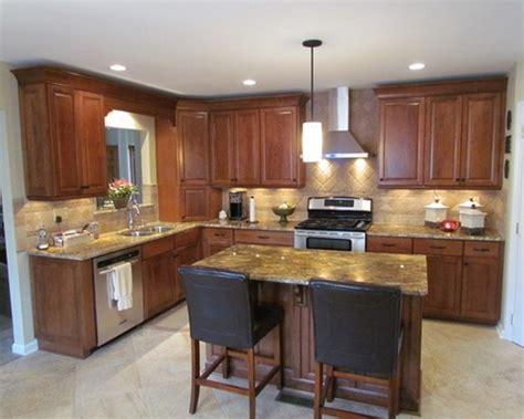 shaped kitchen layouts  island increasingly