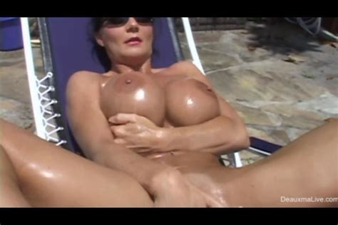 Beautiful Milf Deauxma Masturbating In Her Bikini On