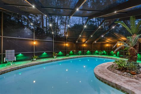 pool enclosure lighting 7 finishing operations for a residential swimming pool