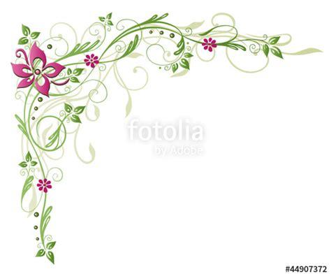 ranke flora blume bluete border frame gruen rosa