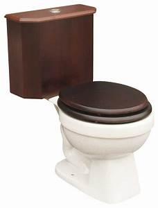 Toilets White Lowboy Beveled Dark Oak Panel Round Toilet