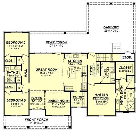 level house plans 3 bedrm 1900 sq ft acadian house plan 142 1163