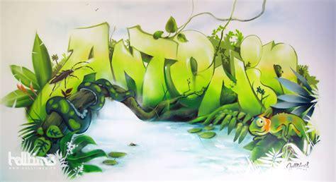 fresque murale chambre b fresque graffiti enfant jungle web fresque murale de la