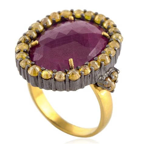 ruby 10 5ct 10 5ct ruby 18k gold 925 sterling silver cocktail