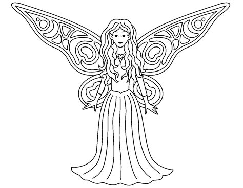 Fairy Colouring Pages Printable Free High Quality
