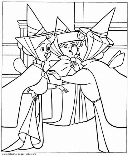 Coloring Pages Disney Sleeping Beauty Printable Sheets