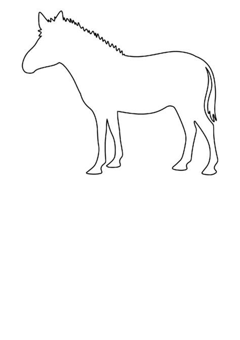 blank zebra template printable
