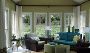 Modern sunroom interior design ideas with window for Interior decorator window treatments