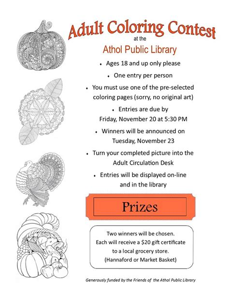 adult coloring contest our fabulous library programs