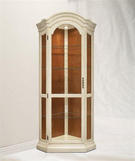 Philip Reinisch Panorama Corner Curio Cabinet by Distressed White Cabinets Philip Reinisch Panorama Corner