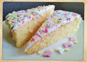White Cake Icing with Sprinkles