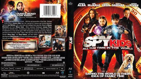 spy kids time world blu ray scanned covers spy