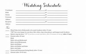free wedding itinerary templates and timelines With wedding day timeline template word