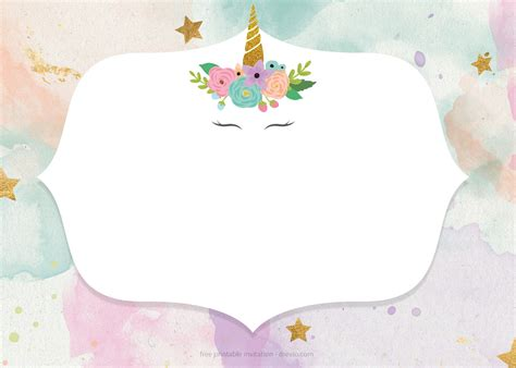 unicorn invitation template free free unicorn birthday invitation templates pastel color bagvania free printable invitation