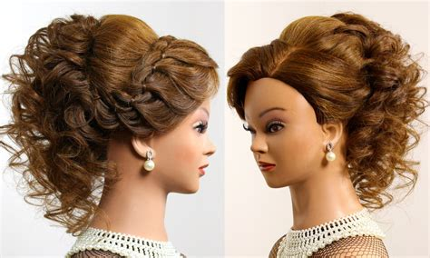 Romantic Hairstyle For Long Hair. Prom Wedding Updo