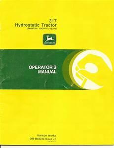 John Deere 317 Operator U0026 39 S Manual Album
