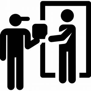 People Delivery Flat Black Icon