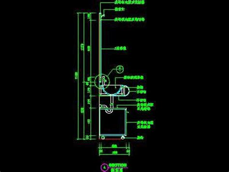 bathroom sink cad section  autocad drawings