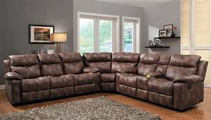 L shaped sectional sofa with recliner beautiful piece for Sectional sofas with 4 recliners