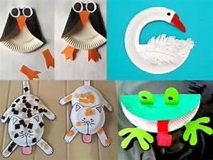 Bricolage A Faire Avec Des Petit : inspiration bricolage les animaux assiettes en carton ~ Melissatoandfro.com Idées de Décoration