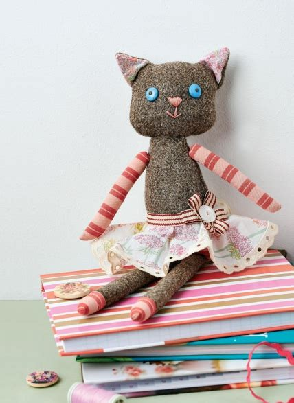 tweed cat doll  sewing patterns sew magazine diy projects wikidiyorg